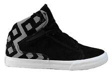 Supra Terry Kennedy TK Society Mid Top Black 3M Silver Shoes Sneakers 11.5 NIB