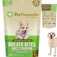 DOG CHEWS Dental Bites Fresh Breath Teeth Health  Oral Care Snack 60 Bite-Sized