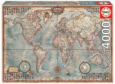 Puzzle Educa 14827 El Mundo, Mapa Politico, 4000 Piezas teile pieces