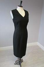 HOBBS SEAM DETAIL LITTLE BLACK DRESS - SIZE 12 - LINED
