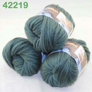 Lot 3 SkeinsX50gr Cotton Baby Chunky Double Knitting Scarves & Crochet Yarn 19
