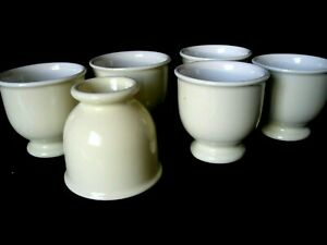 Vintage Coors Thermo Porcelain #240 Beige Egg Cups/Custard Set of 6
