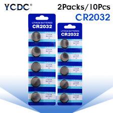 10Pcs 3V Button Battery Coin Cell Li-ion 5004LC ECR2032 CR2032 DL2032 KCR2032 3