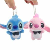 Mini Lilo And Stitch Porte-Clés Peluche Animal En Poupée Cadeau Enfants 10Cm
