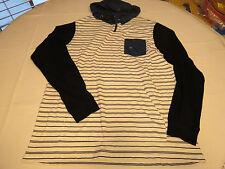 Mens RVCA surf skate brand long sleeve shirt hoodie XL regular fit white 010 NWT