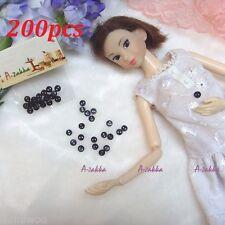 Bjd Doll Dress Diy Material High Quality Button Circular Round 4mm Black 200pcs