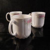 3 Tassen Kaffee- Keramik Porzellan Fein- Jugendstil Deko PN Frankreich N3098