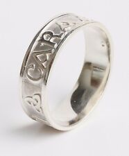 Size 11.5 Sterling Silver Irish Handcrafted Anam Cara Soul mate Ring 7mm wide