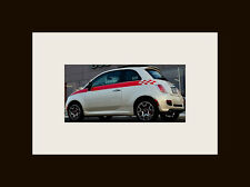 "All Year Fiat 500 5"" Check Side stripes Stripe Graphics Decal decals"