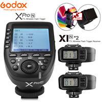 Godox Xpro-N TTL Wireless Flash Trigger + 2 X1R-N Receiver For Nikon D800 D7200