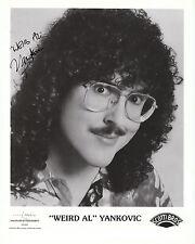 "Weird Al Yankovic Autographed B & W  Reprint   8"" x 10"""