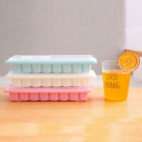 16 Cavity Ice Cube Tray Box With Lid Cover Drink Jelly Freezer Mold Mould Maker