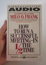 HOW TO RUN A SUCCESSFUL MEETING-IN 1/2 THE TIME, MILO O. FRANK CASSETTE 1989,NEW