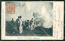 Roma Nettuno Poligono Artiglieria Militari cartolina KF2422