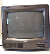 "RCA 13"" CRT Retro Gaming TV Wood Cabinet Model E13230WN W wood grain design"