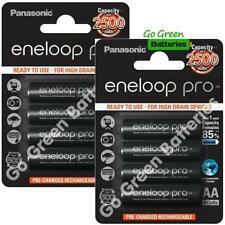 8 x Panasonic Eneloop PRO AA 2500 mAh Rechargeable Batteries Ready To Use