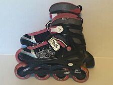 True Black and Pink Vista Inline Skates Youth Size 1-4