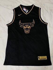 Michael Jordan Chicago Bulls Swingman Golden Edition Jersey Men's Size XXL 54