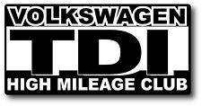 Volkswagen TDI Diesel High Mileage Club Sticker Decal Jetta, Passat, Beetle