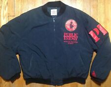 Rare Vtg Hip Hop Public Enemy 1988 OffiCial Trooper Tour Jacket Og Jordan Swag!