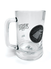 NEW GLASS STEIN OFFICIAL MUG WINTER IS COMING STARK TANKARD GAME OF THRONES