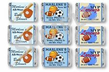 Sports Baby Shower Mini Candy Bar Wrappers - 1st Birthday/Baby Shower -Set of 84