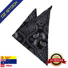 Black Pocket Square Paisley Men Handkerchief Hanky Gentlemen Dan Smith DEE7B14A