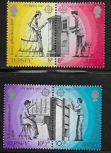 Jersey Scott #202-05, Pairs 1979 Complete Set FVF MNH