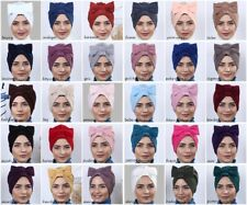 Ladies New Fashion Bonnet Bow Style Turban Head Wrap Cover Scarf Hat Hijab Gift