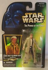 NEW HAN SOLO (ENDOR GEAR) Star Wars POTF Coll. 1 Green Card HOLO 1996 Kenner MOC