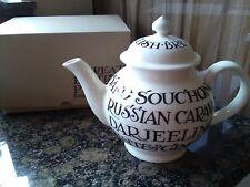 new emma bridgewater  black toast  all over writing 4 mug teapot