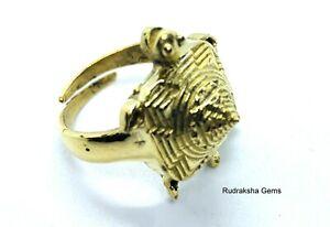3D SRI YANTRA TURTLE RING BRASS SHRI SHREE YANTRAM FOR WEALTH PROSPERITY SUCCESS