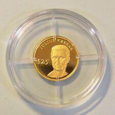 Liberia 25 Dollar Julius Cäsar 2000 0,73 g 999 Gold/AU Kapsel PP Zertifikat