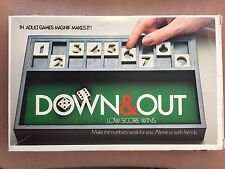 Down & Out Dice Pub Game 1979 Shut The Box Snake Eyes Solitaire or Teams