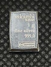 "Valcambi Suisse One(1) Gram 999 Silver Bullion CombiBarâ""¢ Bar Coin Fractional"