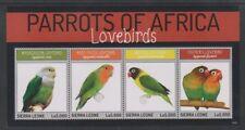 Sierra Leone - 2014, Parrots of Africa Birds sheet - MNH