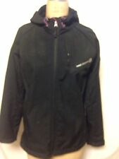 Free Country Soft Shell Hooded Jacket L Black  New With Defects