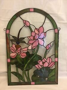 """Stained glass window with Dragonfly 15x22"""""""