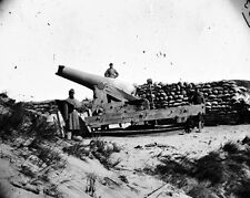 New 8x10 Civil War Photo: Confederate Gun with Muzzle Shot Off, Fort Fisher