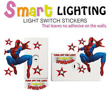 Spiderman Light Switch Reusable Wall Sticker Decal Save Power