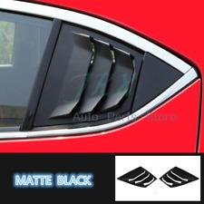 Matte Black Quarter Panel Window Side Louvers Vent Trim For Mazda3 AXELA 2014-18