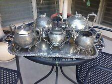 Egyptian Sphinx America Coffee Silver Plate Tea Service Deco Reed Barton Simpson