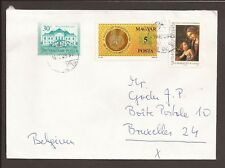 Hungary 1992 cover. Posted to Brussels