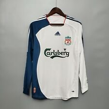 2006-07 Liverpool Away Long Sleeve Retro Soccer Jersey