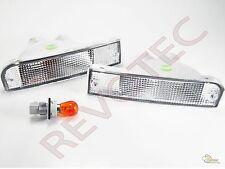 92 93 94 95 Toyota 4Runner Clear Bumper Signal Lights Lamps RH & LH
