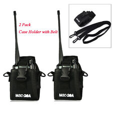 2 PCS Police Fireman Walkie Talkie Radio Case Holster For Motorola Baofeng ICOM