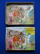 """Vintage espoir contreplaqué Jigsaw Puzzle """"Winnie l'ourson"""" 15 pièces années 1970"""
