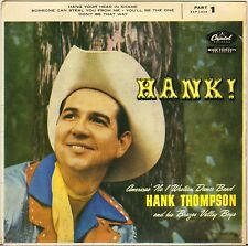 "HANK THOMPSON ""HANK !"" COUNTRY ROCK U.K. 50'S EP CAPITOL EAP 1-826"