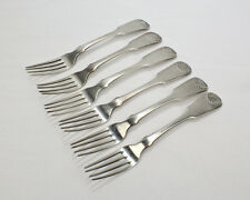 6 Small Bailey & Kitchen Philadelphia Coin Silver Forks - American - SL