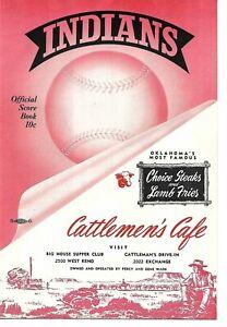1953 Oklahoma City Indians-Shreveport Sports Program Texas League NICE!!